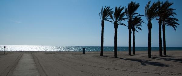 Playa del Centro de Meditacion Trascendental de Roquetas de Mar (Almería)