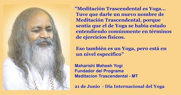 MT 21 Junio Dia Yoga Maharishi